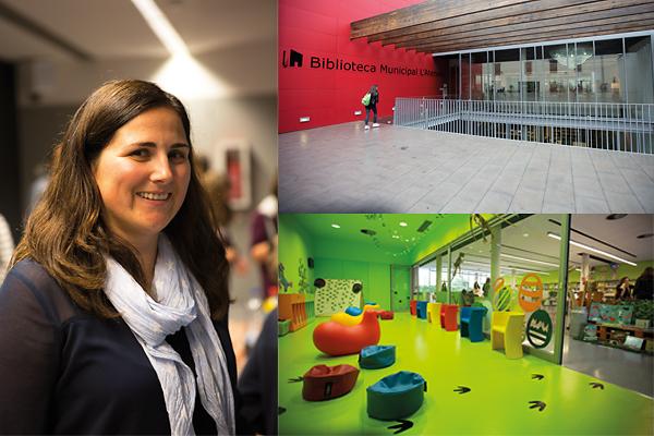 I Esparreguera jobbar biblioteket med att involvera barn och unga i sina verksamheten. Bibliotekschef i Esparreguera, Carla Canongia tycker det är viktigt att göra barn och unga delaktiga i planeringen av olika aktiviteter. Foto: Fredrik Svedemyr