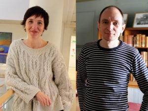 Bibliotekstjänst Både Hanna Rasmussen och Mikael Tuominen menar att Bibblix egentligen är en ganska traditionell bibliotekstjänst som har ompaketerats. Foto: Helén Andersson.