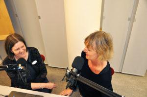 Bokprat Storheter som Björn Ranelid, Majgull Axelsson och Klas Östergren har gästat Jeanette Malm och Elisabeth Skog i studion. Foto: Hanna Jedvik.
