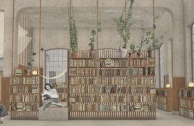 Blivande inredningsarkitekter skapar bibliotek